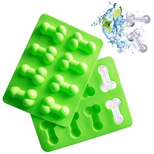 Stampo in silicone a forma divertente Vaschetta del ghiaccio Novità stampi per dolci al cioccolato da forno Stampi da forno per strumenti artigianali di zucchero rosa Stampo per adulti 3D verde