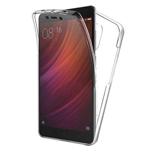 TBOC Funda para Xiaomi Redmi Note 4 - Note 4X (5.5 Pulgadas) - Carcasa [Transparente] Completa [Silicona TPU] Doble Cara [360 Grados] Protección Integral Total Delantera Trasera Lateral Móvil a Golpes