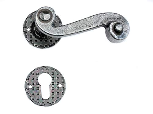UHRIG ® Drückergarnitur Satz Paar Klinke Antik Eisen Design Türdrücker Türklinke Türgriff