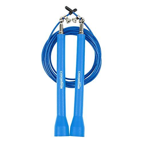 Amazon Basics, corda per salto in velocità, qualità premium, in plastica, blu