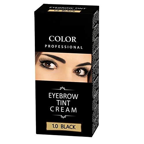 Henna Color 1.0 Schwarz Creme für Augenbrauen Henne Öko bis zu 4 Wochen Farbintensität,...