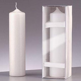 efco Kerze, Wachs, Weiß, 25x6x6 cm
