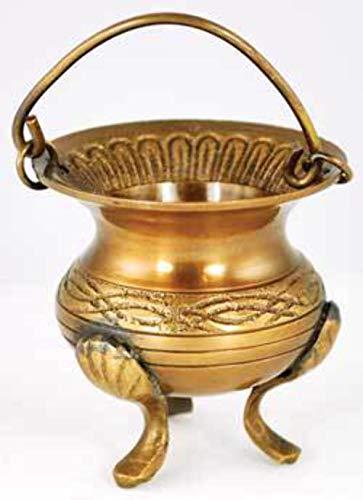 Celtic Brass Cauldron 3'