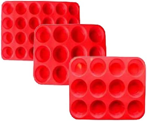 Cooking Details Silicone Muffin and Cupcake Pan Nonstick BPA Free 12 Mini Cups 6 Full Size 6 product image