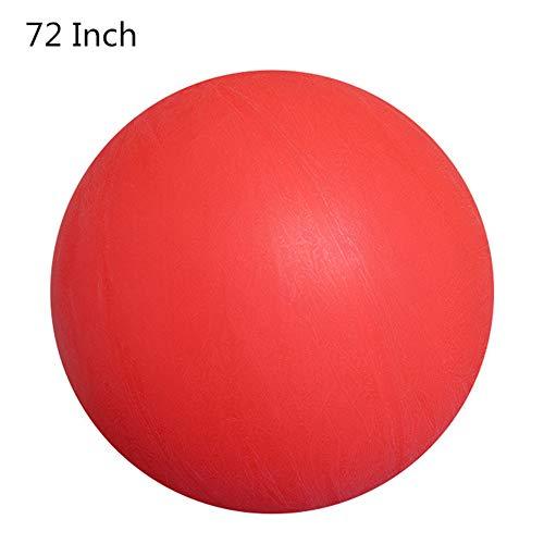 IHOMYIPET 6ft runde Luftballons, 72-Zoll-Wiederverwendbare riesige runde Latex-Luftballons zum Einsteigen für Hochzeits- / Geburtstagsfeierdekorationen (Rot)