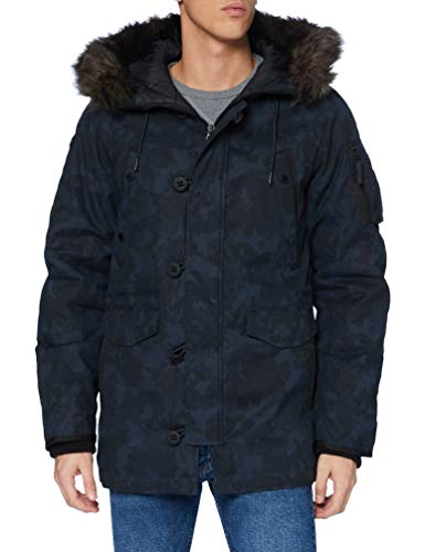 Superdry Mens SDX Parka, Midnight Camo, Large