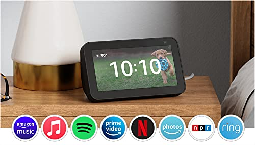 All-new Echo Show 5 (2nd Gen, 2021 release) | Smart display with Alexa and 2 MP camera | Charcoal
