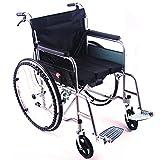 Ruote a raggi, sedia a rotelle leggera pieghevole, telaio in alluminio leggero semovente, deambulatore, comodo e resistente, cuscino in tessuto Oxford, sedile da 18 pollici-Nero