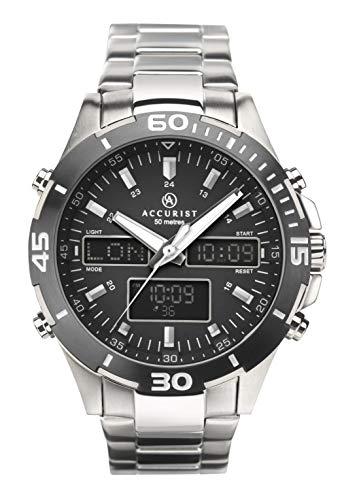 Accurist Watches Reloj para de Japanese Quartz con Correa en Acero Inoxidable 7231