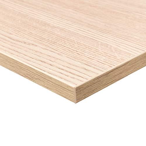 boho office® Tischplatte, Schreibtischplatte 160 x 80 x 2.5 cm in Arogan Eiche mit hoher Kratzfestigkeit und 120 kg Belastbarkeit