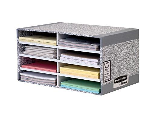 Bankers Box 0875006 System Schreibtisch Manager, 1 Stück/Pack, grau/weiß