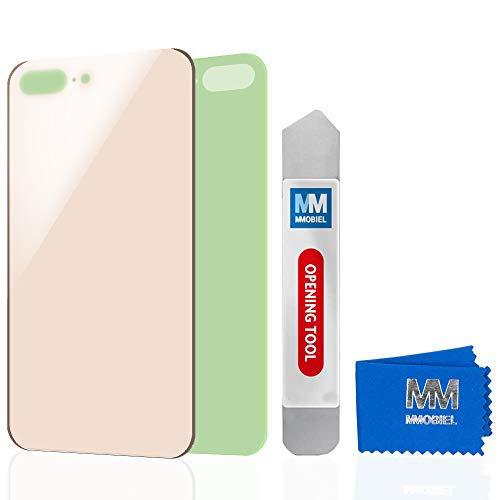 MMOBIEL Cubierta de batería para Parte Trasera (Incluye Vidrio) de iPhone 8 Plus 5.5 Pulgada (Oro) Parte de reemplazo Incluye Adhesivo pre-Instalado
