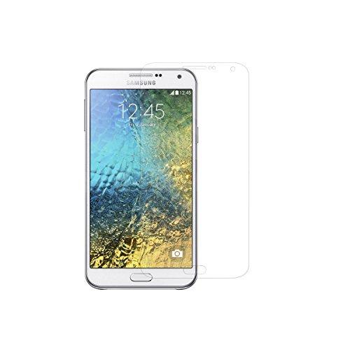 Simplecase Panzerglas passend zu Samsung Galaxy E7 , Premium Bildschirmschutz , Schutz durch Extra Festigkeitgrad 9H , Hülle Friendly , Echtglas / Verb&glas / Panzerglasfolie , Transparent - 1 Stück