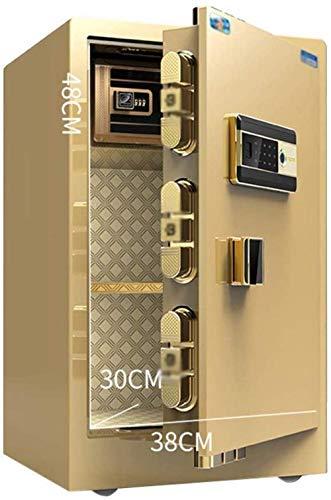 XiYou Caja Fuerte de Seguridad, hogar electrónico con Huella Dactilar Invisible Mediana Oficina antirrobo Caja Fuerte de 40 * 36 * 60Cm