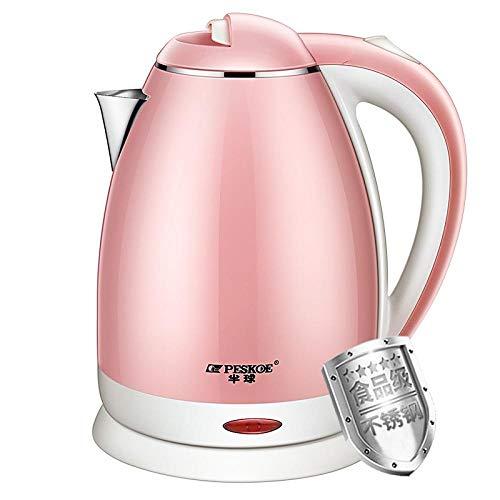 Bouilloire électrique en acier inoxydable de qualité alimentaire avec arrêt automatique bouilloire électrique grande capacité bouilloire ouvre-porte rose-Rose