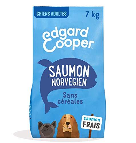 Edgard & Cooper Croquettes Chien Adulte sans Cereales Nourriture Naturelle 7kg Saumon Frais Hypoallergénique, Alimentation Saine savoureuse et équilibrée, Protéines de qualité supérieure