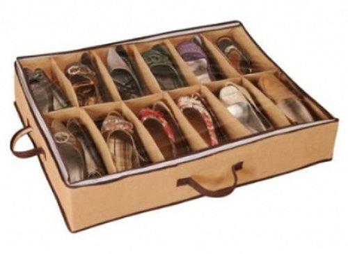 Inter Home - Funda organizadora de zapatos (para debajo de la cama