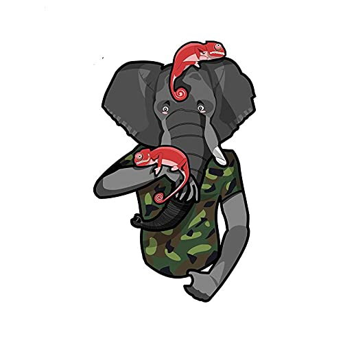 A/X 13 cm 8,4 cm para Elefante con Camaleones calcomanía Pegatinas Creativas para Coche Pegatina Creativa con Personalidad