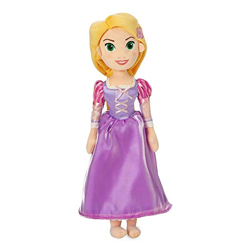 Disney Rapunzel - Muñeca de Peluche Suave - Enredada - Mediana - Hecha con Tela Suave al Tacto con rasgos faciales Bordados y un Vestido clásico - Apto para Mayores de 0 años Rapunzel