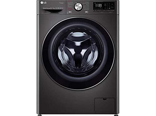 LG V9 WD 107H2S Waschtrockner - 10.5 kg Waschen / 7 kg Trocknen - Dampf-Funktion, Metallic/Schwarz, 1400 U/Min