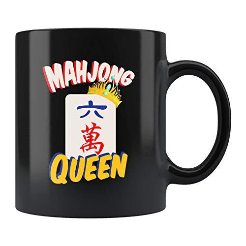 Taza de Mahjong, regalo de Mahjong, de Mahjong, de reina, regalo de juego chino, regalo de mahjong, taza de mahjong, taza de la reina, regalo de la nieta en el día del padre de la madre, 11 onzas