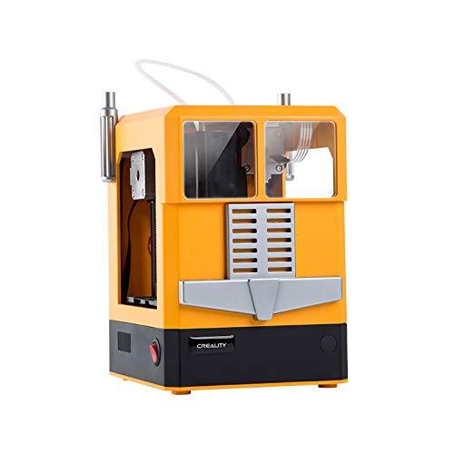 Winhotech 3D Printer CR-100, Imprimante 3D de petite taille, 241 * 183 * 255mm, idéale pour les enfants et les amateurs de bricolage(Jaune)