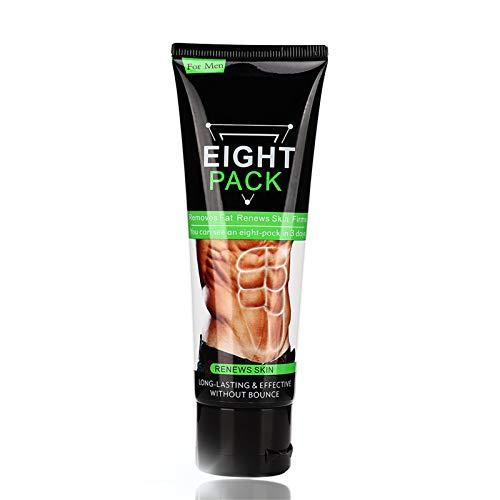 Crema para quemar grasa del vientre para hombres, quemador de grasa para el sudor, deportes, anticelulitis, gel de apriete abdominal para abdomen, muslos, piernas, brazos (80 g)