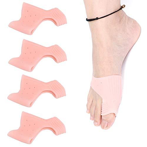 Séparateur d'orteils, 2 paires de redresseurs en gel à gros orteils Protection anti-oignon Correcteur Hallux Valgus pour le jour et la nuit(#1)