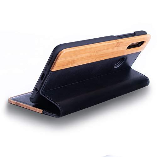 WOLA Flip Case Holz für Huawei P30 Lite Forrest Klapp-Hülle aus Bambus