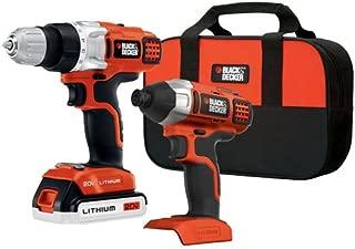 BLACK+DECKER 20V MAX Cordless Drill Combo Kit, 2-Tool (BDCD220IA-1)
