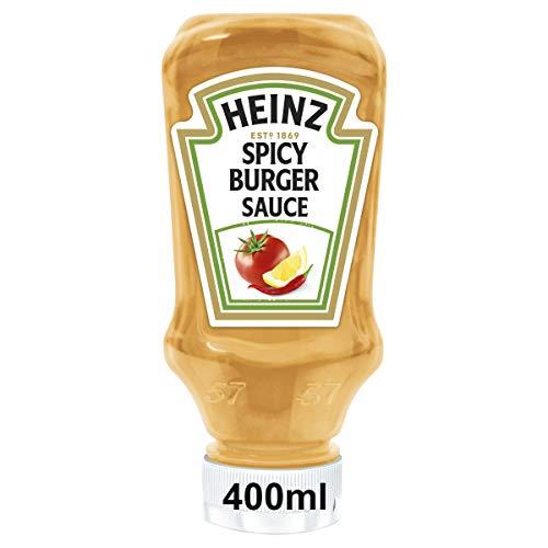 Heinz Spicy Burger Sauce, Mexican Style, Kopfsteherflasche, 10er Pack (10 x 400 ml)