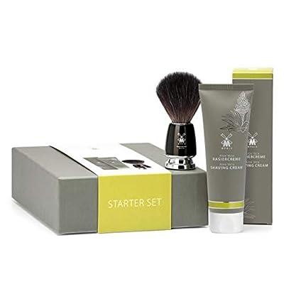 MÜHLE Starter Set incl. Aloe Vera Shaving Cream 75ml & RYTMO Black Fibre Shaving Brush (MSSAV)