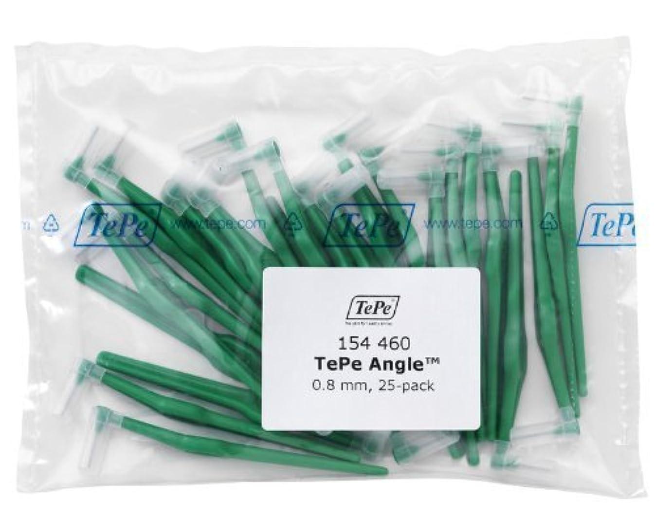弁護人三角オセアニアTePe Interdental Brush Angle - Green 0.8mm 25 pack by TePe Munhygienprodukter AB, Sweden [並行輸入品]