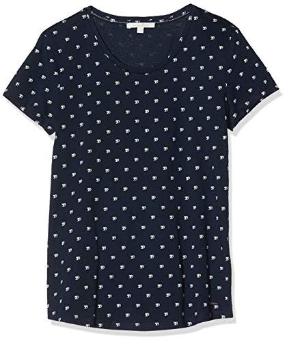 TOM TAILOR Denim Damen Doppelpack Basic Tee T-Shirt, Blau (23220), L