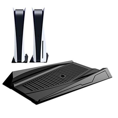 Banane PS5 Consola Soporte Accesorios Para Pla ystation 5 Ultra HD Console, Ventiladores de refrigeración incorporados y pies antideslizantes Versión CD-ROM (negro)