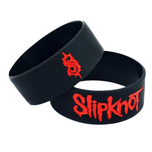Hjyi Silikonarmbänder Gummiarmbänder, Slipknot Live Heavy Metal Rock Band Armband Silikon Sportarmband, 10 Stück