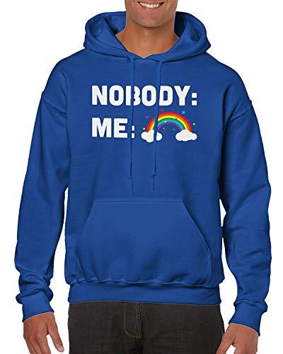 Preisvergleich Produktbild Nobody : Me : Rainbow - Funny LGBT Pride Unisex Hooded Sweatshirt