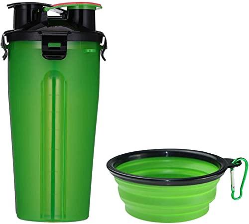 zxccv Biberón para Perros, Durante el Viaje, Biberón para Perros, con 2 Comederos Plegables para Perros y Gatos, Botella de Agua Potable Portátil (Color : A)