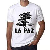 Hombre Camiseta Vintage T-Shirt Gráfico Time For New Advantures Bogotá Blanco