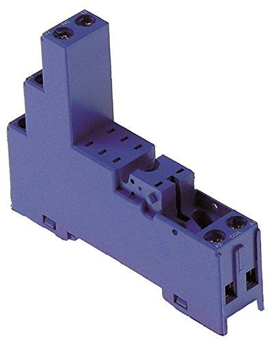 FINDER 95.95.3 Relais-Sockel für Relais-Serie 40.52 Abmaße 81,9x15,5x75mm 2CO 250V AC AC 10A 40.52
