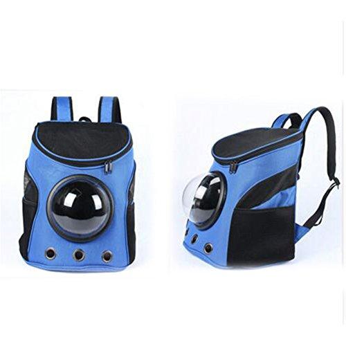 Etbotu traspirante capsule Pet vettore zaino borse da viaggio per gatto cane cucciolo animali di piccola taglia Blue