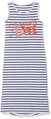 NAME IT Mädchen NKFVIPPA SL Maxi Dress NOOS Kleid, Weiß (Bright White Print: Love Text), (Herstellergröße: 134)
