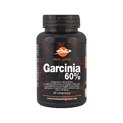 GARCINIA 60% - Integratore alimentare in compresse di Garcinia cambogia (1.500 mg per dose/900mg di acido idrossicitrico per dose), 60 compresse