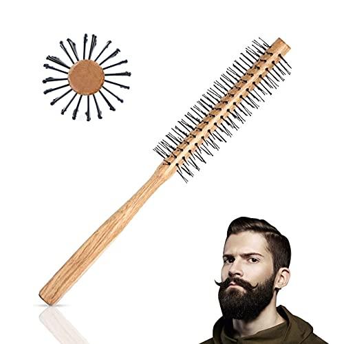 Ealicere Cepillo para el pelo, Cepillo redondo para barba y cabello corto, para hombre y mujer, pelo fino, barba, y Evitar el Encrespamiento