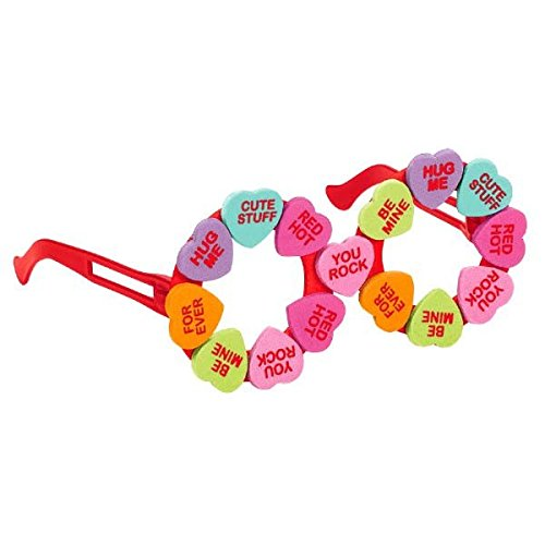 amscan Valentine Red Foam Candy Heart Eyeglasses | Party Accessory, Kid Size