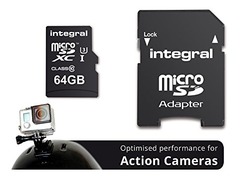 Integral Memory INMSDH32G10-ACTION microSDHC Class 10 UHS-1 geheugenkaart 64GB zwart