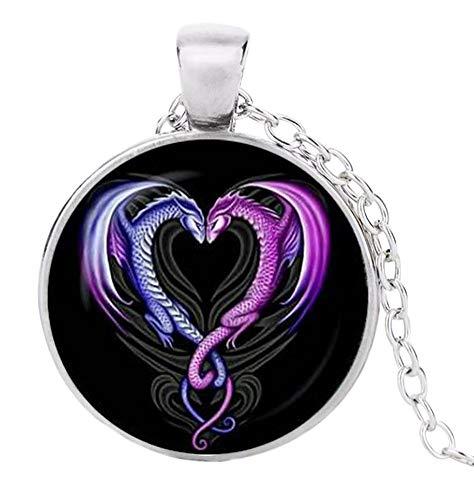 Halskette mit Drachen-Anhänger, Yin & Yang