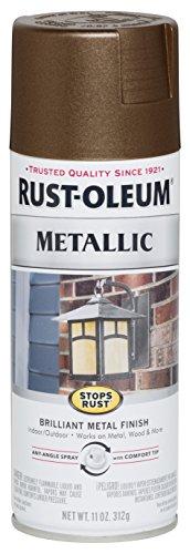 Rust-oleum 286525 stops rust metallic spray paint, 11 oz, dark copper, 11 ounce
