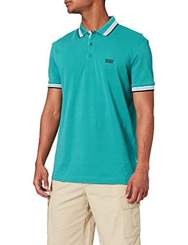BOSS Paddy Camiseta Polo, Turquesa/Aqua 447, L para Hombre