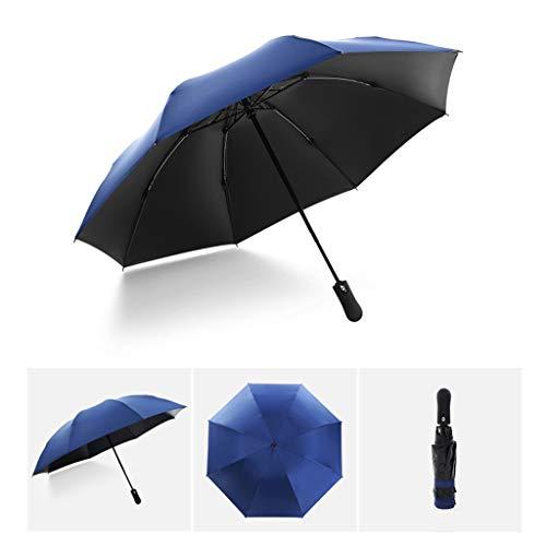 Vollautomatisches Faltbar Sonnenschirm Rain Regenschirm Öffnen Golf Schirme Überdachung Belüftet Winddicht wasserdichte Doppeltem Verwendungszweck UV-Faltschirm (Hellblau)
